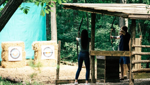 The Inns of Aurora in the Finger Lakes of upstate New York offers guests private archery lessons. Inns of Aurora